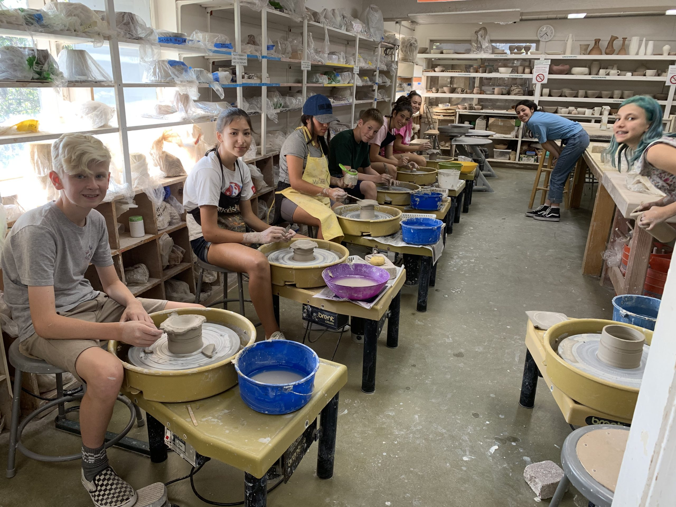 Teen Ceramics_group shot_June_2019